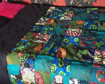 African handmade patchwork:Single bed spread