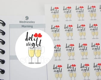 planner stickers,49 date night,dinner date, fine restaurant date,romantic dinner date,diary sticker,valentines day,planner stickers----M168P