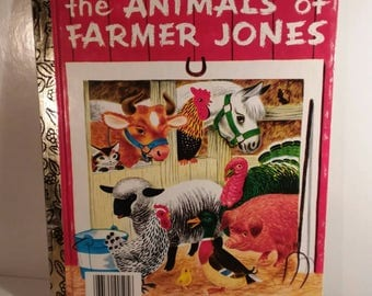 Early Popular A Little Golden Book 1953 ed. The Animals of Farmer Jones specially illustrated by Richard Scarry