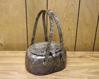 Beautiful Mid-Century Llewellyn Lucite Purse/Handbag in Grey