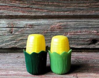 Corn on the Cob Plastic Salt and Pepper Shaker Set