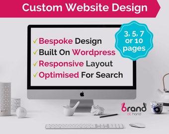 Custom Website Design | Web Design | Wordpress Website | Bespoke Website | Responsive Website Design | 3/5/7/10 Pages