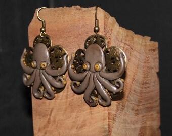 Octopus squid earrings