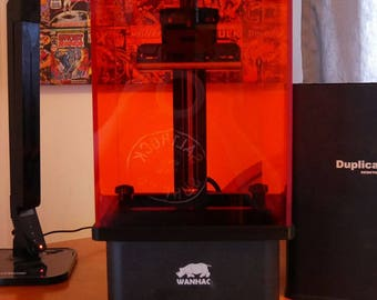 Wanhao D7 3D Printer Acrylic Amber Case / Cover - Like Form2 - Visibility / UV