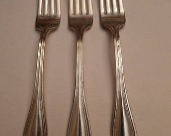 3 Vintage Wm Rodgers Silverplate Forks