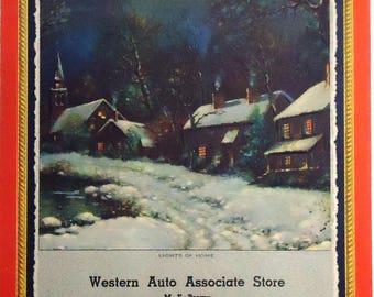 1951 advertising calendar.  Western Auto Associate Store.  WM Thompson art.