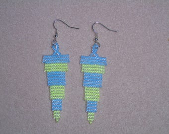 Seed Bead Luminous Tapered Earrings