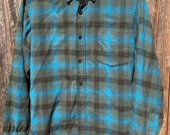 Pendleton Teal & Gray Wool Shirt