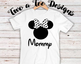 Mommy/Daddy: ANY NAME- Mickey shirt with name. Great for disney trips! Custom Disney t-shirt for family