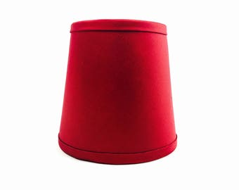 Silk fabric ruby red lampshade gold lining home decor sconce lamp shade