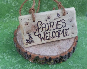 Wooden Fairy Sign