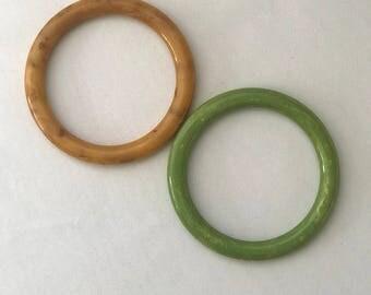 Set Of Two Vintage Bakelite Bangle Bracelets