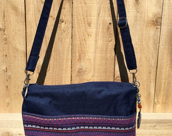 Boho Zippered Crossbody Handbag