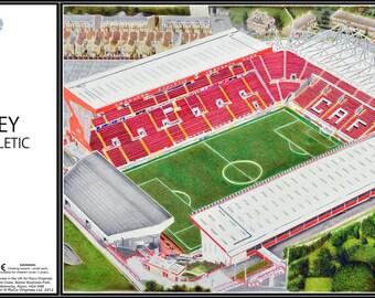 The Valley Stadia Fine Art Jigsaw Puzzle - Charlton Athletic Football Club
