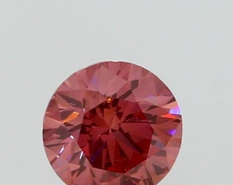 Gia Certified Deep Pink Round 0.48ct Diamond