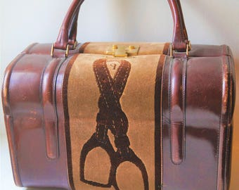 Vintage Leather vanity case from Venice.