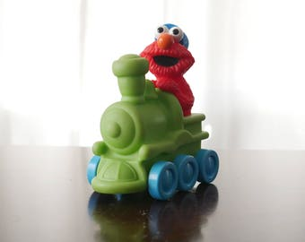 Elmo Toys Train Illco | Elmo Toy Cake Topper | Elmo Birthday Decorations | Elmo Birthday | Sesame Street Party | Sesame Street Toys