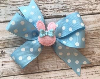 easter bow, easter bunny bow, easter bunny bow, first easter bunny bow, easter hair bow, bunny bow, egg hunt bow