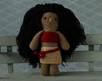 handmade crochet cuddle toy Moana