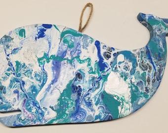 Fluid Art Whale