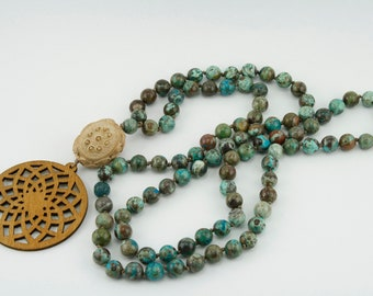 Gemstone Necklace from Ocean Agate