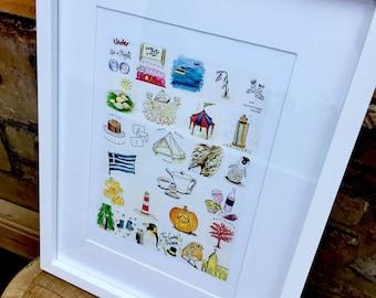 Framed Print - Our Time Together in Doodles