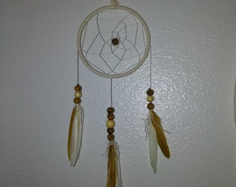 These dream catchers are all made by one person . each of these dreamcatchers are made unique and all with an individual style.