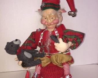 Sven the Elf on etsy- Santas Helper- Handmade OOAK Elf- Happy Holidays