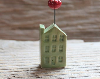 Ceramic Miniature Green House with Heirloom Tomato - Ready to Ship