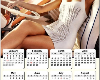 """Blake Lively 2018 Full Year View 8"""" Calendar - Magnet or Wall #3830"""