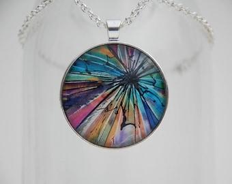 Shattered Dreams Art Pendant Necklace