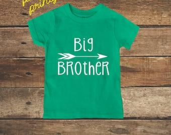 Big Brother Shirt Big Boys Shirt New Brother shirt Green