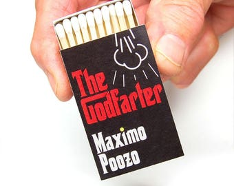 Stocking stuffer gag gift matchboxes -- The Godfarter x 3