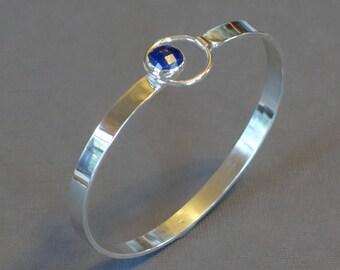 Lapis Lazuli Bracelet, Blue Lapis Bracelet, Natural Stone Bracelet, Bangle Bracelet, Blue Lapis Jewelry, Geometric Bracelet, Oval Bangle