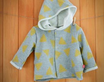 Sunny Triangle - Organic cotton hand printed hoodie