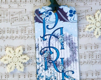 Shabby Paris French Christmas  Gift Tags
