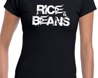 Rice & Beans Ladies Black T-shirt