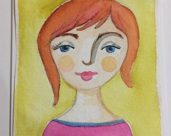 Original Watercolour : Lucy