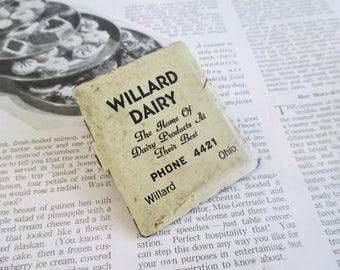 Vintage Willard Dairy Advertising Clip - Willard, Ohio