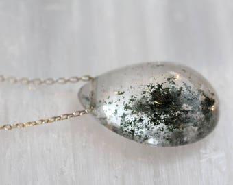 Lodolite Teardrop Necklace