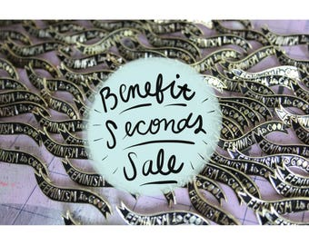 Seconds Sale for C'ville // Feminism is Cool Enamel Pin