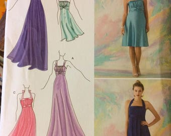 Jessica McClintock Evening Gown Pattern Simplicity 2398  Misses' Size 4-12 Bust 29-34  inches Uncut Complete