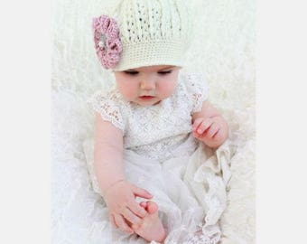"CROCHET PATTERN For ""Sarah"" Beanie Crochet Pattern in 4 Sizes  baby, toddler, child, adult PDF hcp7  Digital Download"
