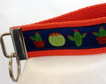 Cactus Key Fob Wristlet - Key Fob - Key Chain Fob - Key Wristlet - Key Fob Keychain - Keychain Wristlet - Saguaro - Desert - READY TO SHIP