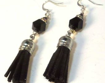 Tassel Earrings – Black
