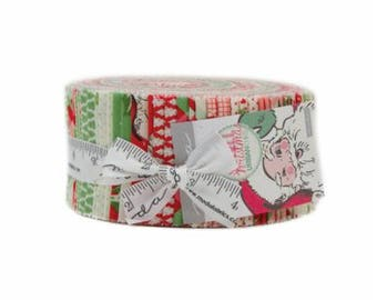SALE It's here!  Jelly Roll SWELL Christmas Moda fabric from Urban Chiks 31120JR