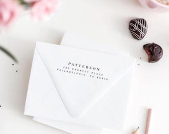 Modern Address Stamp, Return Address Stamp, DIY Stamper, Personalized Address,Minimal Stamp, Rubber Stamp, Stamp Your Address (627)