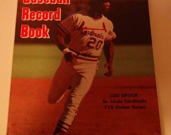 1975 Official Baseball Record Book, Lou Brock, St. Louis Cardinals, Sports Memorabilia, Baseball, Bat, Batting Records, Base Running, Series
