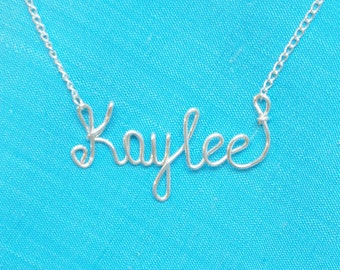 Sterling Silver 925 Name Necklace,Handmade Jewelry.ANY Name,Custom Personalized .Sterling Silver 925 chain, Sterling Silver 925 Name Pendant