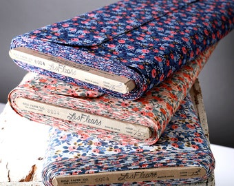 Les Fleurs / Rosa Periwinkle / Rosa Navy / Rosa Peach / Rifle Paper Co. / Cotton+ Steel / Cotton Quilting Fabric By the Half Yard or Yard